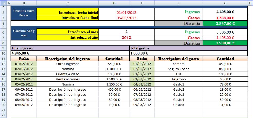 Descargar hoja de Gastos e ingresos (contabilidad)